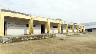 Govt Girls High School, Harni  building  lying in dilapidated condition.