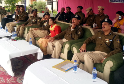 Dignitaries during valedictory function of district games for disabled in Jammu.