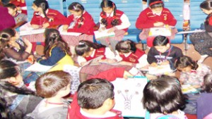 IIIM organises Floral  Painting/Drawing Competition