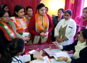 Purnima, others interact with  pregnant women in SMGS
