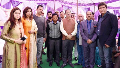 Speaker J&K Legislative Assembly, Kavinder Gupta and other dignitaries while inaugurating new branch of Cynosure International Prep School in Jammu.