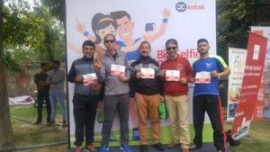 Rajesh Padha bags 3rd place in AU Jaipur Marathon