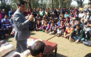 MLA Bani conducts public  grievances redressal camp