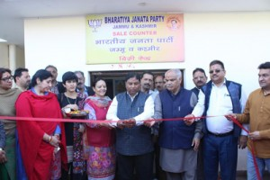 BJP sets up library, sale counter at Party Hqrs