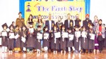 Children of The Narula First Step School posing for a group photograph while celebrating Annual Day.