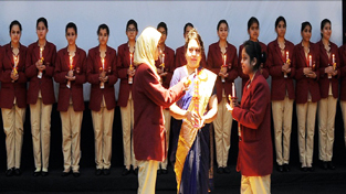 Lamp lighting ceremony of Ist batch of B.Sc Nursing students being held at SMVDCoN on Firday.