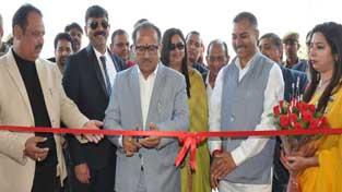 Deputy Chief Minister Dr Nirmal Singh inaugurating RMG International School on Sunday.