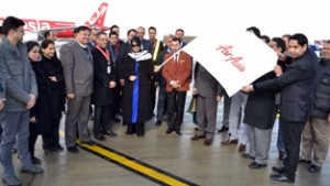 CM receives inaugural flight of AirAsia