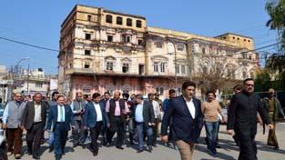 Joint House Panel inspecting restoration work of Mubarak Mandi Complex on Wednesday.