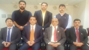 Newly elected office bearers of J&K branch of ICAI.