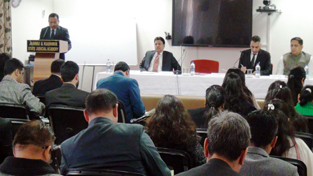 HC Judges addressing Judicial Officers during a workshop conducted by State Judicial Academy on Sunday.