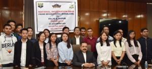 Nagaland University students meet Dr Jitendra, appeal for peace