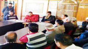 MLC Firdous Tak addressing a meeting of prominent citizens and academicians at Kishtwar.