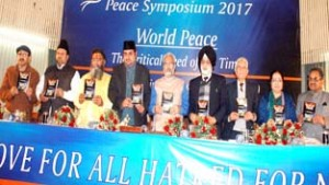 Peace in world need of time: JU VC