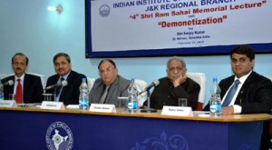 IIPA organizes 4th Ram Sahai Memorial Lecture on 'Demonetization'