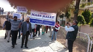 CPWD employees hold protest rally