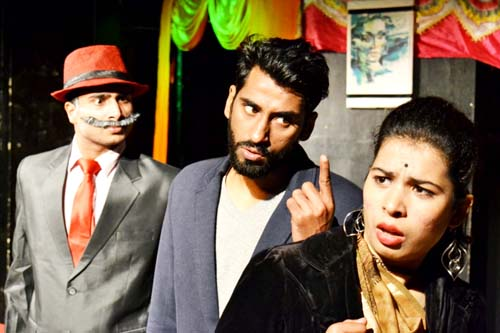 A scene from the play 'Vikalp' staged by Natrang in its Sunday Theatre Series.