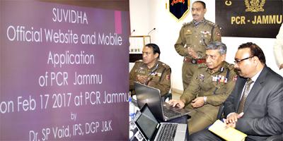 DGP Dr SP Vaid inaugurating 'Suvidha JK Police' at PCR Jammu.