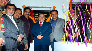 Divisional Commissioner Dr Pawan Kotwal during inauguration of library at Amar Singh Club on Wednesday.