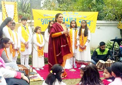 Participants during Basant Panchmi celebrations at Jammu.