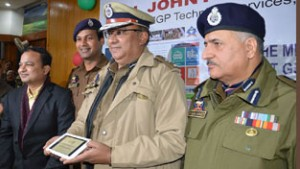 IGP Technical Services inaugurating website of District Police Udhampur on Friday.