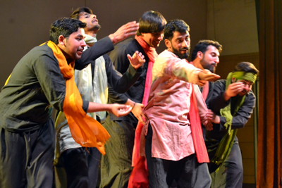 A scene from the play 'Parvaaz'.