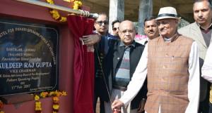 Kuldeep lays foundation of Pahari Boys' Hostel