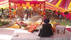 'Gurmat Samagam' organised  at Domana Gurudwara