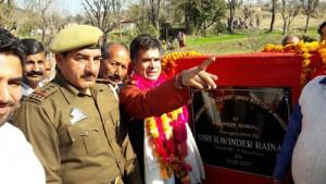 Raina inaugurates  mini bridge at Nonial