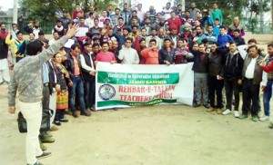 ReTs protest for release of  pending salary, other demands