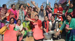 Mahila Cong activists stage  protest demonstration