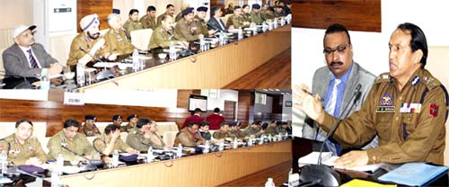 Excelsior Correspondent JAMMU, Feb 20: Arrangements for the 28th Police Public Mela, being organized in Jammu on February 26 were discussed at an officers meeting held at Police Headquarters (PHQ) here today. The meeting was chaired by the Additional Director General of Police (ADGP) Headquarters, V. K. Singh and was also attended by ADGPs, Dilbag Singh, L Mohanti and AK Choudhary. While discussing the arrangements made for the mega event, V K Singh sought reports from different committees constituted for conducting the Mela in a befitting manner. It was informed that the required arrangements have been put in place for the day long Mela. More than 40 stall holders from various police establishment centres across the State are reaching here and are displaying their products at the identified stalls in the Mela. V K Singh, while addressing the meeting said the Police Public Mela has gained faith and fame at large scale among the masses as the event provides an opportunity to police and the public to assemble together and interact freely. The occasion has helped to strengthen police public relations and people from all shades of life are enjoying this Mela. He stressed to introduce more items representing different regions of the State to make the event more attractive for the public. He also asked the officers to ensure sale of remaining raffle draw tickets on the Mela day at the venue by establishing special sale counters. ADGP disclosed that this time 8969 fabulous prizes have been kept in the raffle draw which has increased the people's interest in the event. The transparency in raffle draw has strengthened the trust of the people upon the organizers. Mela will be inaugurated at Police Sports Stadium, Gulshan Ground at 10.30 am and raffle draw will be held at 4 pm in presence of public, he added. Prizes would be handed over to the winners on-the-spot on production of original tickets. Earlier, IGP Jammu Armed Range, S. A. Watali, who is also Chairman Arrangement Committee and AIG (Welfare), Dr. Haseeb Mughal gave presentations and apprised the meeting about the arrangements put in place to conduct the grand event smoothly. Among others, the meeting was attended by IGPs, Y. Koul, Alok Puri, SD Singh, Danesh Rana, SL Sharma, Jagjit Kumar, JP Singh, SK Gupta and Johny William, DIGs, AA Wani and Hilal Ahmed, AIGPs, Sheikh Junaid Mehmood, Mubassir Latifi, Sameer Rekhi and Kulbir Singh, SSPs, Rajesh Pran, Anita Sharma, Randeep Kumar, Joginder Singh, Stenzin Nurboo, Sandeep Choudhary, DD Building, Munish Dutta, Ex. PCD, Nasir Hussain Zargar, Med.Supdt. Dr. Kirti Sharma, Sr. ADO, Nasir Khan and other police officers.