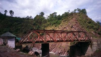 Abandoned bridge in Uri.