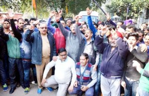 Chemists hold protest against anti-trade policy of Govt