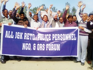 Retired Police Personnel hold protest, demand removal of pay anomaly
