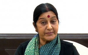 EU foreign policy chief holds talks with Swaraj