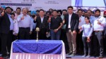 Hyundai Motor India dignitaries at the launch of Mega Exchange Carnival in Ludhiana.