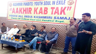 KP leaders at a citizens meet at Jammu on Sunday.