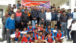 Winners of Volleyball Tournament organised by IRP-5th Bn in Doda.