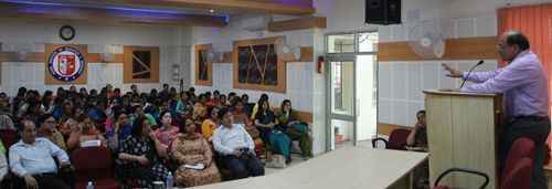 Resource person listened carefully during extension lecture organized by MIER on Wednesday.