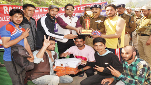 Winners posing for a group photograph during sports festival organised by District Police Ramban.