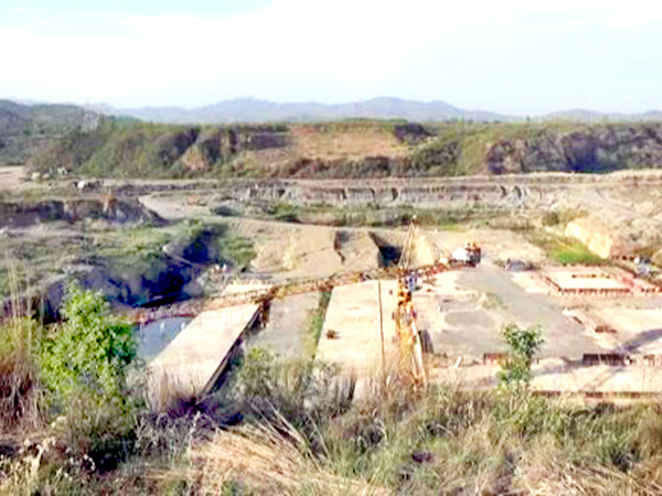 A view of Shahpur Kandi project site.