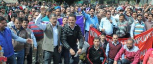 JU non-teaching, non-gazetted  employees protest, suspend work