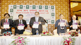 Finance Minister, Dr Haseeb Drabu releasing State Focus Paper 2017-18 prepared by NABARD on Monday.