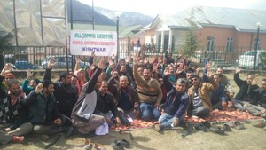 Medical employees stage dharna