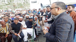 Minister for Food, Civil Supplies and Consumer Affairs Choudhary Zulfkar Ali addressing a gathering in Rajouri on Wednesday.