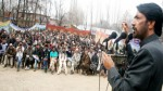 Cong-NC candidate GA Mir addressing election rally in Anantnag on Saturday.