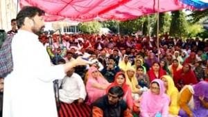Lal Singh takes stock of public grievances
