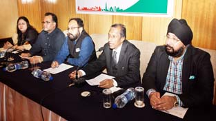 Office bearers of HRANI during a meeting on Wednesday.