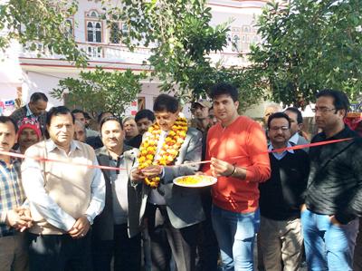 MLA Udhampur, Pawan Gupta inaugurating development work on Friday.